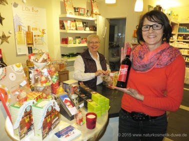 Pflegendes, Schönes und Leckeres für die Weihnachtszeit, mit bewährtem Verpackungsservice für Geschenke.