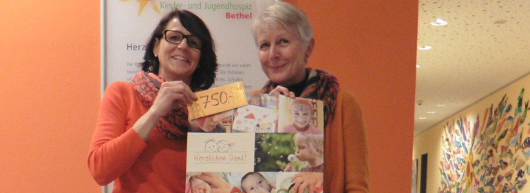 Spendenübergabe Bethel Kinderhospiz
