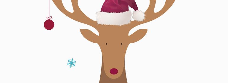 Weihnachtsgutschein Naturkosmetik Rentier